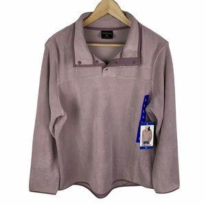 32 Degrees Button Snap Fleece Pullover Large